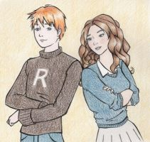 Ron and Hermione by loutres