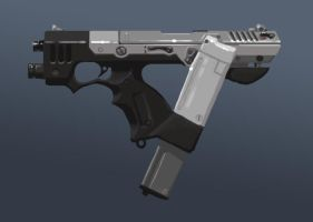 Snub machine pistol by kiolia