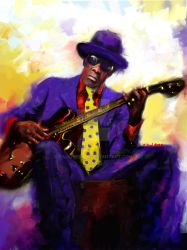 Blues Man by paulhebron