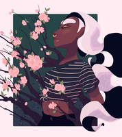 pixellated bloom by inkray