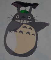 Totoro is flying by rufy73