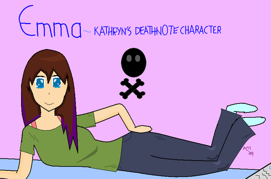 my deathnote character, Emma. by Imichi