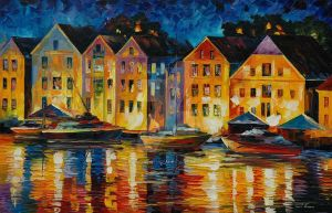 Night resting by Leonid Afremov by Leonidafremov