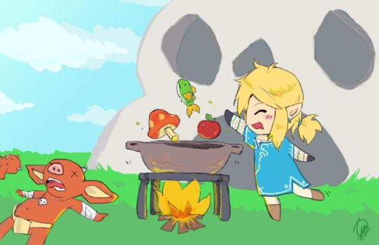 Breath of the Wild - balanced diet by betsuni