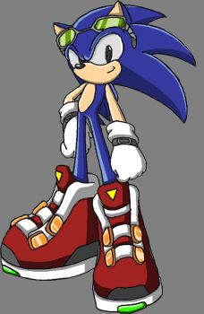 my Sonic sketch in colour by Dan123