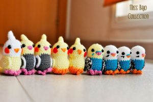 Cute little birds by MissBajoCollection