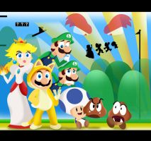Super Mario 3D World by xeternalflamebryx