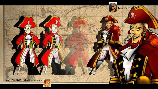 Captain Red Roger   Art Trade Part I by KomyFly