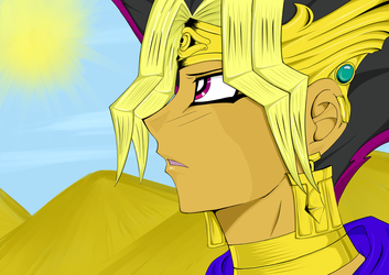 Atem under the Egyptian sun by Lhisi