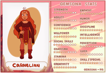 Carnelian stat sheet by Thea0605