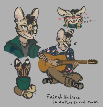 Faizah in anthro form by Teavian