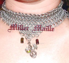Chainmaille Choker by the-un4given-1