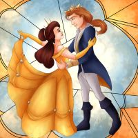 Belle and her Prince by Hyzenthlay89