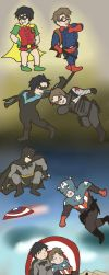 Dick and Bucky: Growing Up by haeresitic