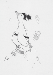 Duck from below (inktober day 4) by Spyhamschter