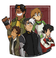 voltron squad by hopehound