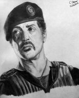 Sylvester Stallone Drawing by LethalChris