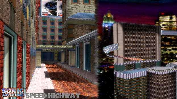 (MMD Stage) Speed Highway Acts 1 and 2 Download by SAB64