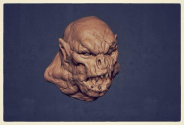 old ZBrush sketch ork 003 by dtran