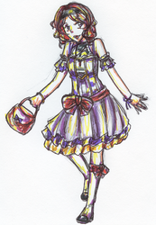 Outfit Sketch: Anise by sydchan