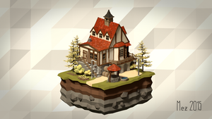 House [Isometric|LowPoly] by Mezaka