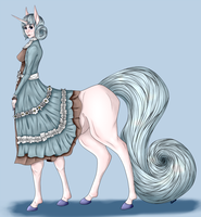 Satin the Unicorn Centaur by EmmaKatiedid
