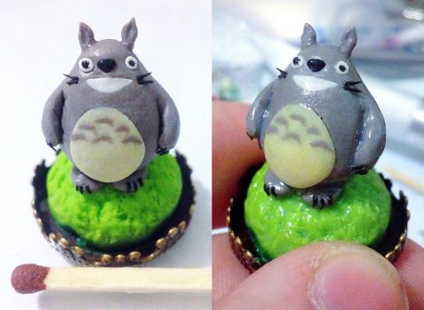 Totoro in process by Shalfairy