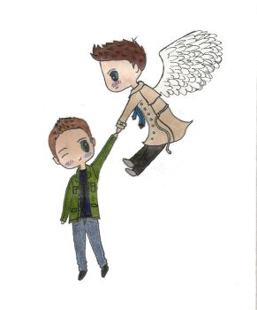 Mini-Destiel goes for a fly by DreamsAndFantasies