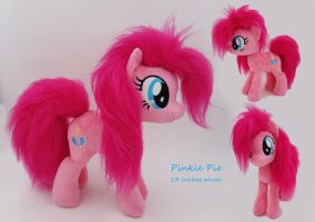 Faux fur Pinkie pie plush - For sale - by Epicrainbowcrafts