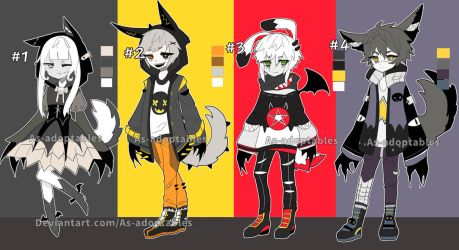 Halloween kemonomimi  adoptable batch closed by AS-Adoptables