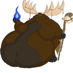 Big Hairy Belly Moose by Big-Wolf