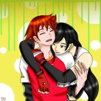 chris and tifa hug request by doioakina