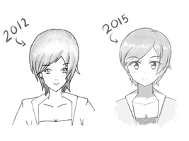 2012 vs 2015 by DantemaruXXX