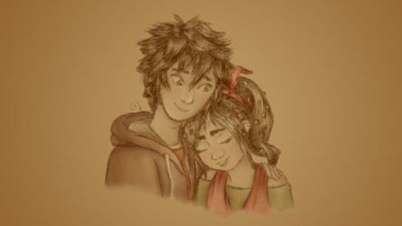 Hiro and Vanellope by MagicalyMade