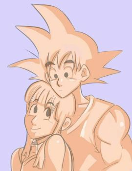 Goku and Chichi doodle by Pittree