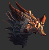 Scaled Dragon - Speedpainting by AbelPhee