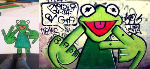 Graffiti Frogster by YuKey0