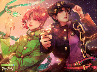 STARDUST CRUSADERS. by MaewenMitzuki