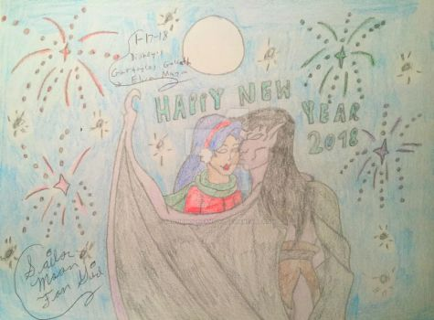 Happy New Year 2018 From Goliath And Elisa by SailorMoonFanGirl