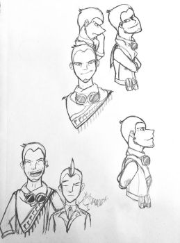 Datz Are'bal Character Sketches by AthenaHolmes