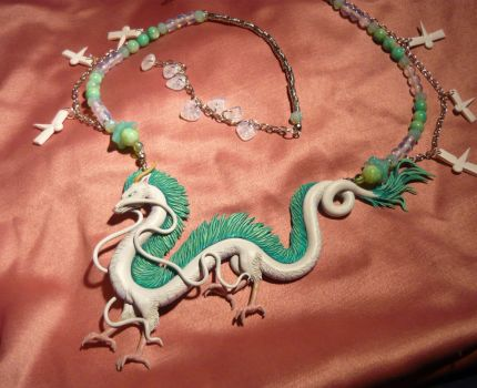 Spirited Away: Haku the Dragon - Necklace by Ganjamira