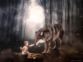 The Child And The Wolf by Zoa-Arts