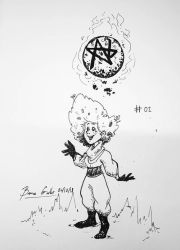 Inktober 2018 - Moon-Touched by pro-mole