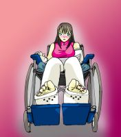 kasumi in wheelchair by castsandfeet