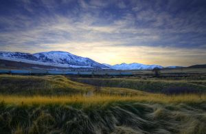 Sunset at Kennecott by Enkphoto