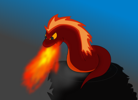 Fakemon - Snaflam by ScribblyGryphon