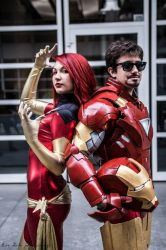 Iron Man and Dark Phoenix by FredProps