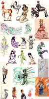 hellalotofmonstergirls by bitamin
