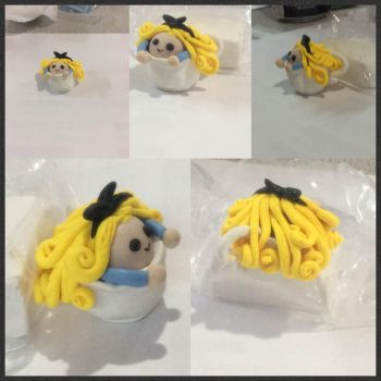 Polymer clay: Alice in a cup by dianita98