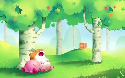 Nap in the Birch Forest by Torkirby